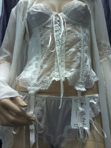 Silk Basque with lace