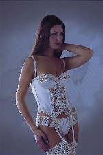 Silk Basque with Knickers