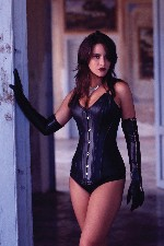 Long Leather Corset