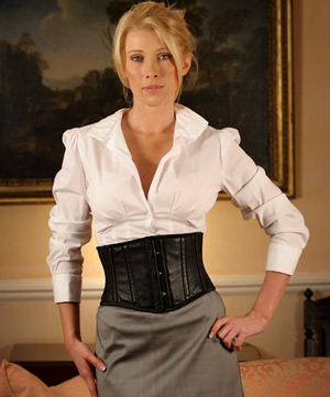 Short Leather Underbust Corset