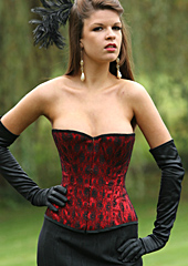 Lace over Satin Overbust Corset
