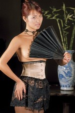 Waist Cincher with Lace Skirt Corset