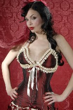Girdle Corset in Burgundy