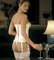 Ivory Basque Bridal Corset
