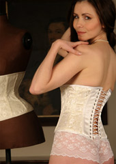 Lace over Satin Bridal Underbust Corset