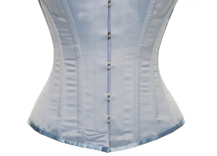 Hourglass Bridal Corset in Baby Blue Satin - Size 30""