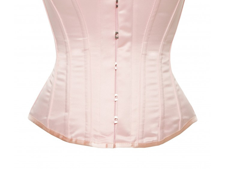 Hourglass Bridal Corset in Baby Pink Satin - Size 30""