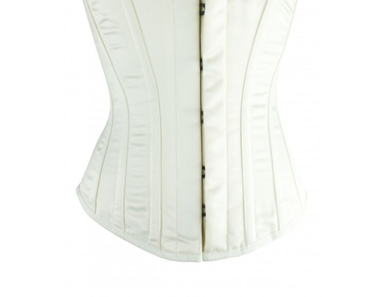 Hourglass Bridal Corset in Ivory Satin - Size 30""