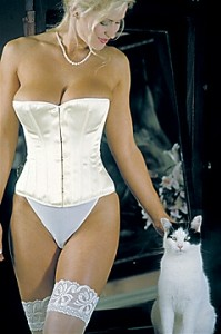 Bridal Corset in Ivory Satin