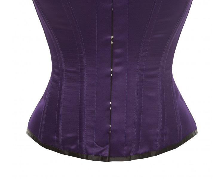Hourglass Bridal Corset in Purple Satin - Size 30""