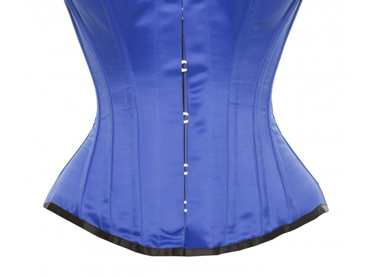 Hourglass Bridal Corset in Royal Blue Satin - Size 30""